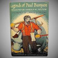 """Legend of Paul Bunyan"", Illustrated by Richard Bennett"