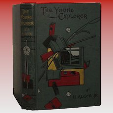 "Vintage Illus. Boards Horatio Alger Jr  ""The Young Explorer"""