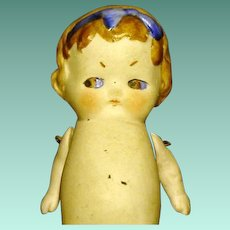 """Chubby All Bisque Googly 3 1/2"""" German Toddler Girl"""