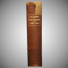 "1st ed, 1st issue ""Following the Equator"" , Mark Twain"