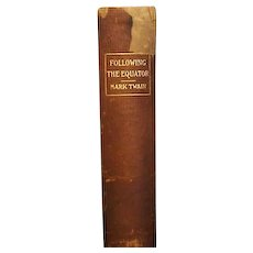 "1st ed, 1st issue ""Following the Equator"" , Mark Twain"