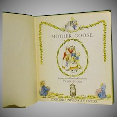 "1St Ed, 1st issue,""Mother Goose"" Tasha Tudor  1944"