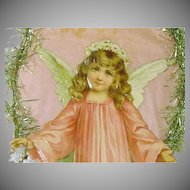 Large Paper and Die Cut Girl Angel Christmas Decoration