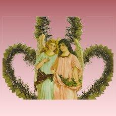 Large Victorian Die Cut  Angels Christmas Decoration Paper