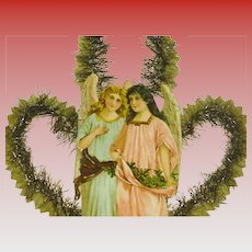 Large Victorian Die Cut  Angels Christmas Decoration Paper