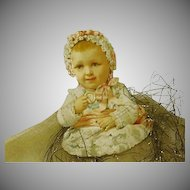 Vintage Christmas with Baby and Glitter/Net Decoration