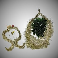 Two Victorian Like  Christmas Tree Decorations
