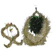 Victorian Glitter Christmas Decorations