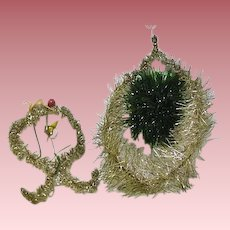 Victorian Glitter Christmas Decorations