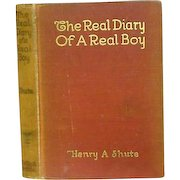 """""""The Real Diary  of A Real Boy""""  Henry A Shute 1917"""