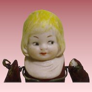 """All bisque 3 1/4"""" Jointed Arms Playhouse doll"""