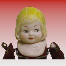 "All bisque 3 1/4"" Jointed Arms Playhouse doll"