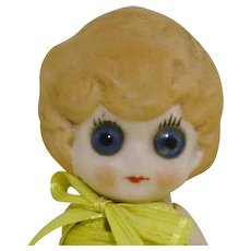 """Large Google Eyes 5"""" All Bisque Doll"""