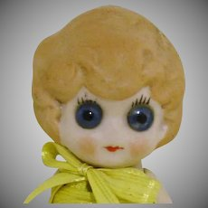 "Large Google Eyes 5"" All Bisque Doll"