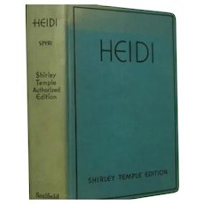 """Heidi"" Spyri Shirley Temple Authorized Edition. Saalfield`"