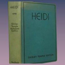 """Heidi"" Spyri Shirley Temple Authorized Edition. Saalfield`"