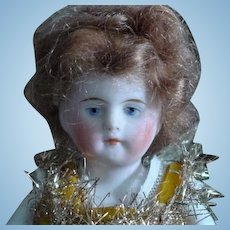 """5 & 1/2"""" All Bisque Painted Features #600  Doll"""