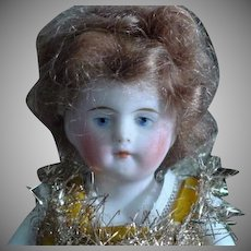 "5 & 1/2"" All Bisque Painted Features #600  Doll"