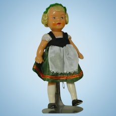 German Celluloid Painted Doll  Native Costume