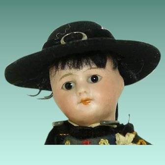 Vintage SFBJ Paris Boy Doll Traditional Dress