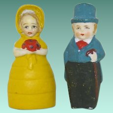 "Tiny Bisque 2"" Bride and Groom  ""Happy Couple"""