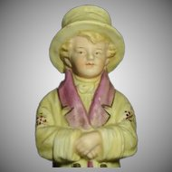 "Rare 1880 Heubach Kate Greenway Figurine ""Under the Window"""