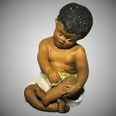 Rare Heubach Black Boy with Ball Sunburst Mark
