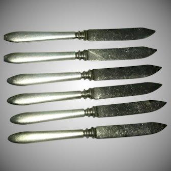 Vintage 6 Individual Silver Plated Roger Bros, 1847 Fruit Knives