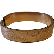 Victorian Gold Filled Magnificent Cuff Bangle Bracelet