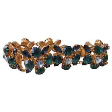 Vintage Austrian Rhinestone Link Bracelet - Most Beautiful