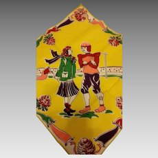 1940's Football Hero and Gal Pal Hankie Handkerchief