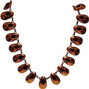 Vintage Signed RENOIR Copper Necklace