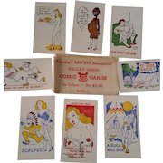 Vintage Comic Cards Set - Paper Collectible Set of 15