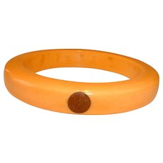 Vintage BAKELITE and 4 Wood Dot Bangle Bracelet