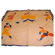 Vintage 1950's Child's Hankie Handkerchief Baseball Bats and Kids