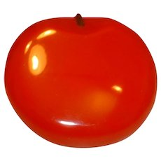 Vintage Huge Red Figural BAKELITE Apple Pin Brooch