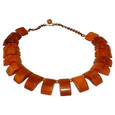 Vintage Muddy Rust BAKELITE Beaded Necklace