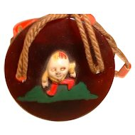 Vintage Celluloid Trinket Box with Humpty Dumpty