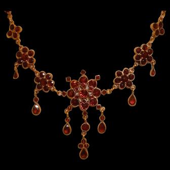 Bohemian GARNET Drop Dangles Necklace Pendant