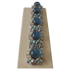 Incredibly Gorgeous Signed Joseph Mazer Rhinestone Link Bracelet