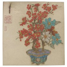 Elyse Ashley Lord 1900-1971 Bonsai Blossom Tree DryPoint Print 99/100 Signed in Pencil