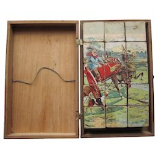 French  Block Puzzle Early 20th Century Goats Scouts Soldiers Donkey Dogs