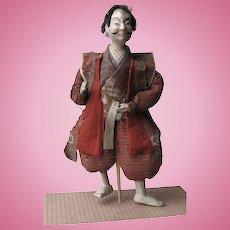 ANTIQUE Late EDO Early Meiji period Samurai Male Doll Ningyo