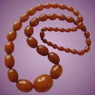 Victorian Antique Amber Necklace 25 inches in length