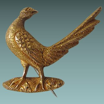 Antique English 9ct/9k or above Gold Pheasant Brooch/Pin