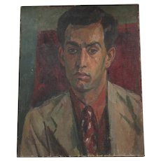 Charismatic Painting Portrait of an Asian Indian Student at Goldsmith's College London by Clive Gardiner principal & Modern British
