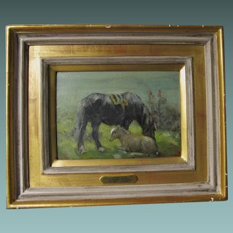 George Smith RSA 1870-1934 Mare & Foal Horse Oil Painting English Scottish c.1900-1930 Much Listed.