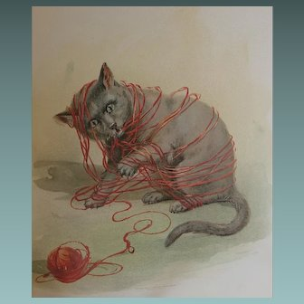 CUTEST & RAREST Antique BOOK - Cats and Kittens  - by Frederick J Boston & Elizabeth Tucker New York 1895