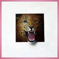 ROAR! Trompe L'Oeil Leopard's Head by Master of the Art Alan Weston