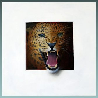ROAR! Trompe L'Oeil Leopard's Head by Master of the Art Alan Weston